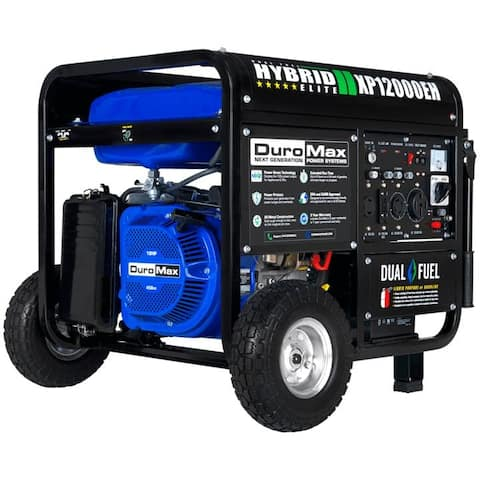 DuroMax 12000-Watt Electric Start Dual Fuel Portable Generator
