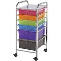 "Storage Cart W/6 Drawers-13""X32""X15.5"" Multicolor"