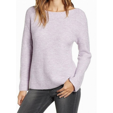 Leith Women's Boat Neck Marled Knit Pullover Sweater