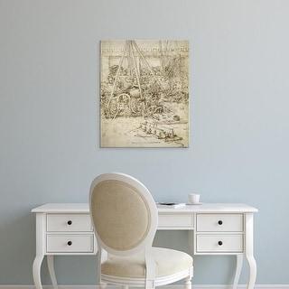 Easy Art Prints Leonardo da Vinci's 'An Artillery Park' Premium Canvas Art