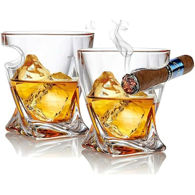 Bezrat Set of 2 Whisky & Cigar Glass
