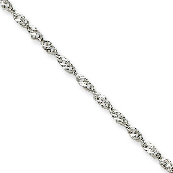 Chisel Stainless Steel 2.0mm 18 Inch Singapore Chain (2 mm) - 18 in