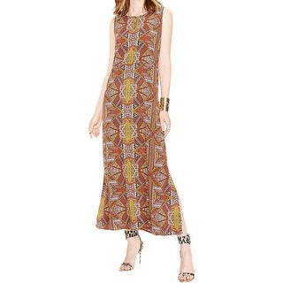 Two by Vince Camuto Womens Tribal Beat Maxi Dress Printed Keyhole