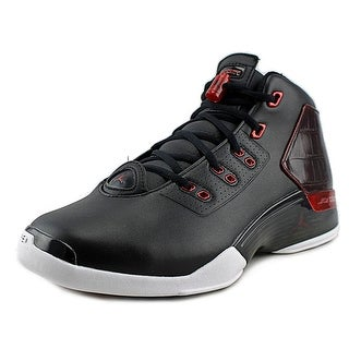 Jordan AirJordan 17+ Retro Men Round Toe Leather Black Basketball Shoe