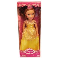 "19"" Princess Doll In Gold Dress (Belle Like) - multi"