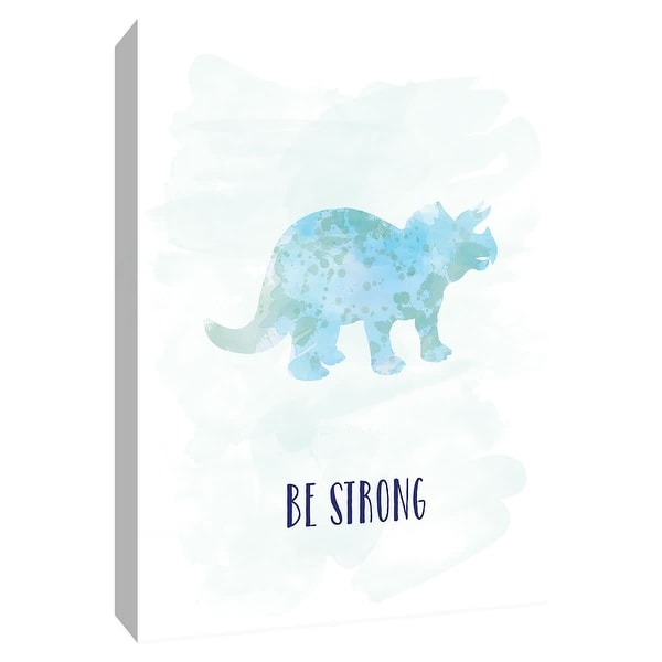 """PTM Images 9-148614 PTM Canvas Collection 10"""" x 8"""" - """"Be Strong Dino"""" Giclee Sayings & Quotes Art Print on Canvas"""