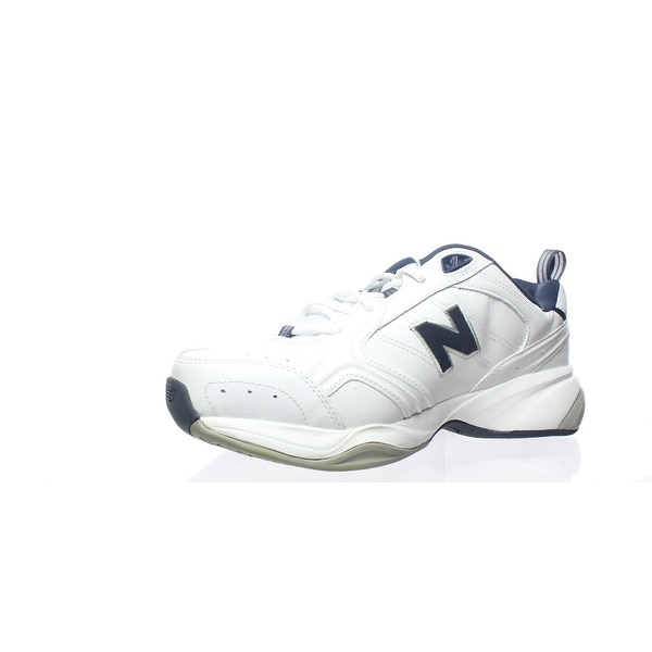 White/Navy Cross Training Shoes Size