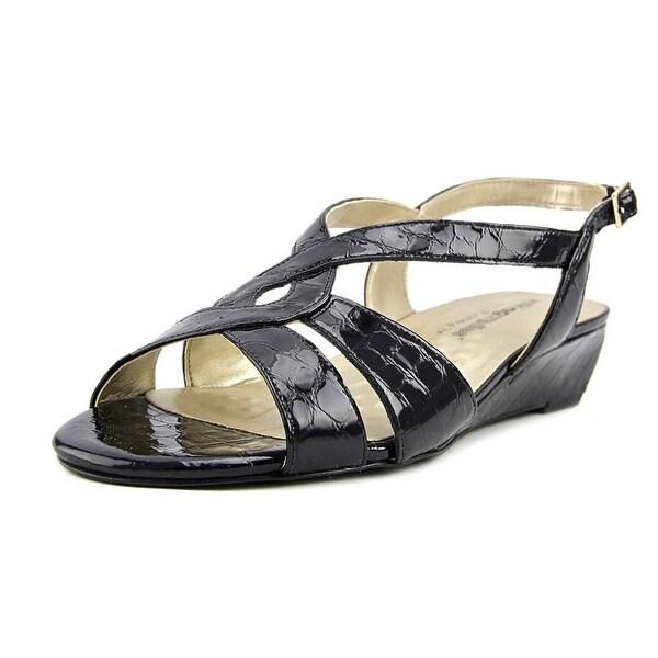 Walking Cradles Dixie Women N/S Open Toe Leather Black Sandals