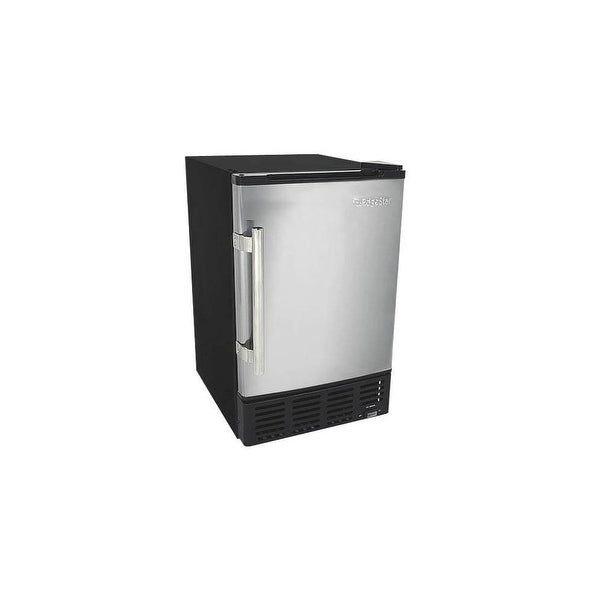 """EdgeStar IB120 15"""" Wide 6 Lbs. Capacity Built-In Ice Maker with 12 Lbs. Daily Ice Production - stainless steel and black - N/A"""