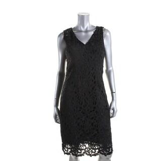 T Tahari Womens Lace Lined Wear to Work Dress