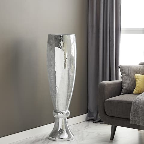 Polystone Mirror Mosaic Pedestal Vase