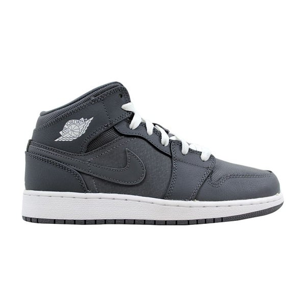 455b1fe7c9e527 Shop Nike Air Jordan I 1 Mid BG Cool Grey White-Cool Grey 554725-022 ...
