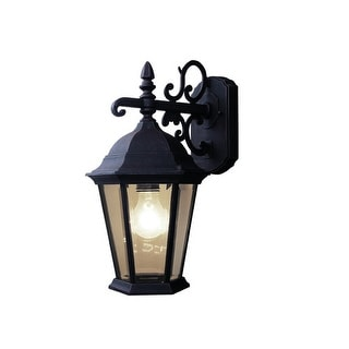 Woodbridge Lighting 61012-RTP 1 Light Outdoor Wall Sconce with Clear Glass from - powder coat rust