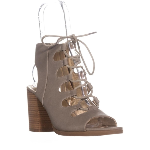 White Mountain Fanfare Heeled Gladiator Sandals, Light Taupe - 8.5 us