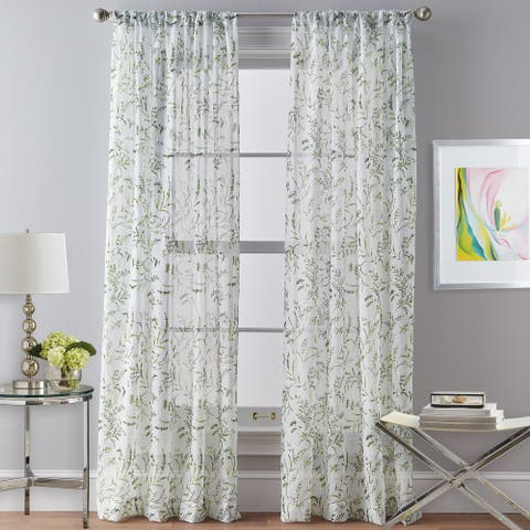 Santa Barbara Voile Rod Pocket Curtain Panel
