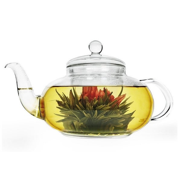 HIC 1512 Daisy Glass Teapot, 40 Oz.