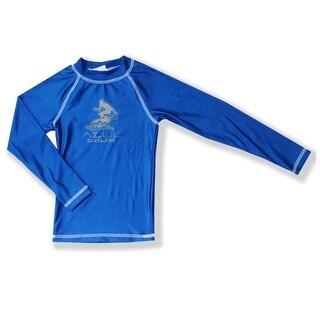 Azul Baby Boys Royal Blue Solid Long Sleeved UPF 50+ Rash Guard