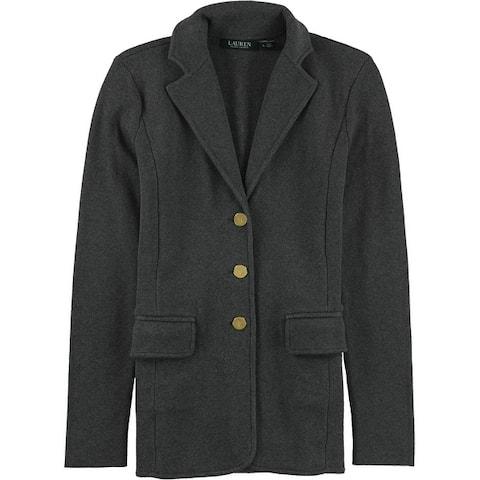 Ralph Lauren Womens Sweater Three Button Blazer Jacket