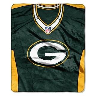Green Bay Packers Jersey Raschel Throw Blanket
