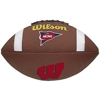 Wisconsin Badgers Logo Wilson NCAA Composite Leather Full Size Football