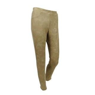 Karen Kane Women's Faux-Leather Pull-On Pants (S, Beige) - BEIGE - S