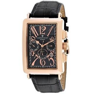 Christian Van Sant Men's Prodigy CV9141 Black Dial Watch