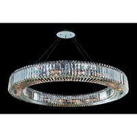 Allegri 11706 Quantum-Rondelle 18-Light Single Tier Chandelier - chrome with clear crystals - n/a