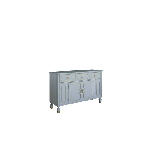 ACME Marchesa Dresser in Gold and Pearl White Finish