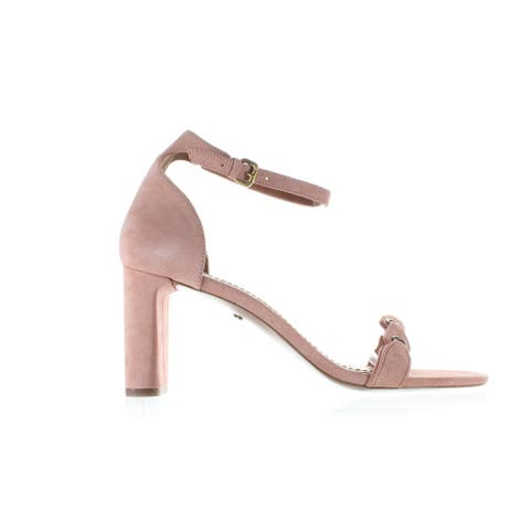 Coach Womens Pink Ankle Strap Heels Size 9.5