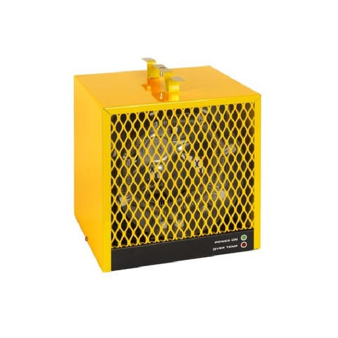 """32"""" Yellow Portable Electric Construction Heater"""