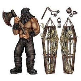 Club Pack of 72 Executioner and Skeleton Cage Insta-Theme Halloween Prop Decorations