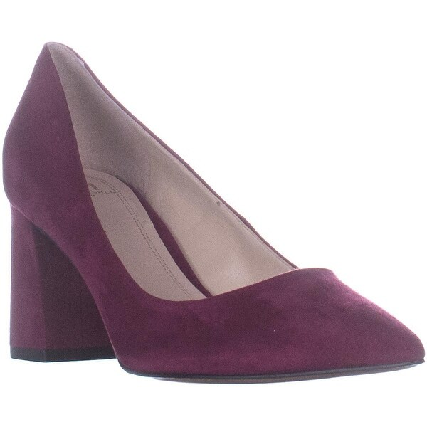 4b45e1e5ee Shop Marc Fisher Zala Pointed Toe Block Heel Pumps, Dark Pink - 6.5 ...
