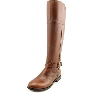 Marc Fisher Womens Aysha WIDE CALF Leather Almond Toe Knee High Fashion Boots (3 options available)