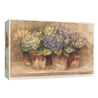 "PTM Images 9-153926  PTM Canvas Collection 8"" x 10"" - ""Garden Hydrangeas"" Giclee Flowers Art Print on Canvas"