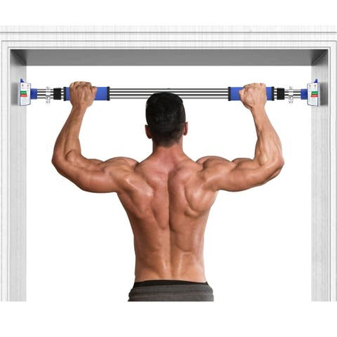 """Doorway Pull Up and Chin Up Bar Upper Body Workout Bar for Home Gym Exercise Fitness Max Load 242 LBS - 28""""~36"""""""