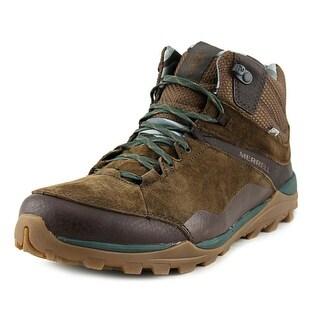 Merrell Fluorecin Mid Waterproof Women Round Toe Leather Hiking Boot