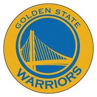 NBA Golden State Warriors Rounded Non-Skid Mat Area Rug