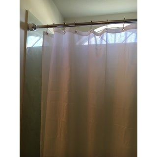 Drum Tension Shower Rod-Chrome and White by Elegant Home Fashions
