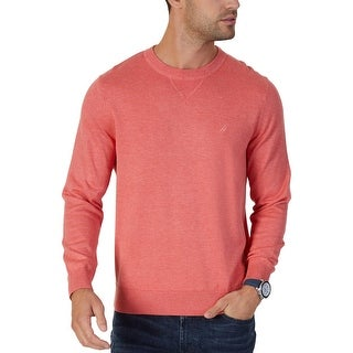 Nautica Mens Pullover Sweater Cotton Blend Long Sleeves
