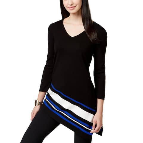 Alfani Women's Petite V-Neck Asymmetrical Top (PP)