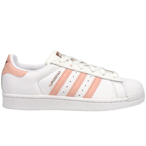 adidas Superstar Lace Up Womens Sneakers Shoes - White