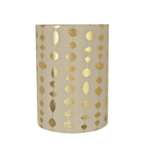 "Aspen Creative Drum (Cylinder) Shaped Spider Construction Lamp Shade in Beige (8"" x 8"" x 11"")"