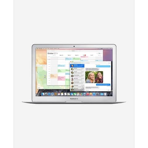 Macbook Air 11.6-inch (Glossy) 1.6GHZ Dual Core i5 (Early 2015) 750 GB Hard Drive 4 GB Memory - Silver