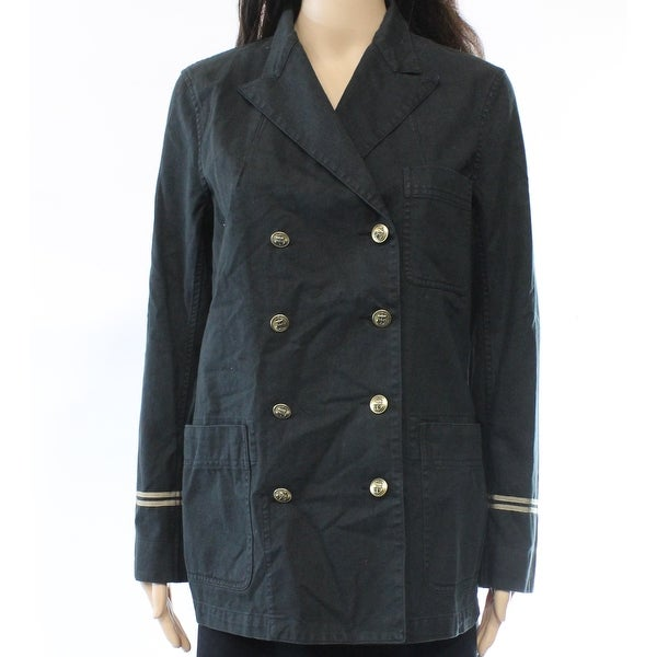 Polo Ralph Lauren NEW Black Womens Size 12 Washed-Till Military Jacket