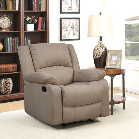Relax A Lounger® Porter Microfiber Manual Recliner by Lifestyle Solutions