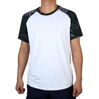 Adult Men Quick-drying Short Sleeve Clothes Basketball Sports T-shirt White L
