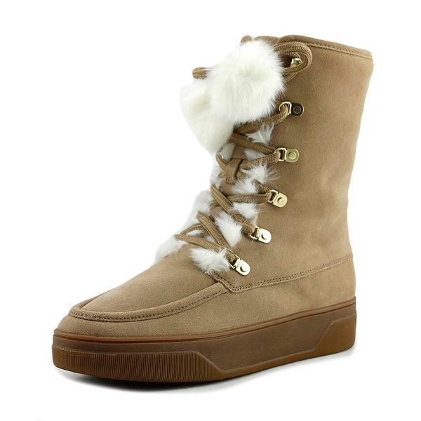 Michael Michael Kors Juno Lace Up Women Dark Khaki Snow Boots