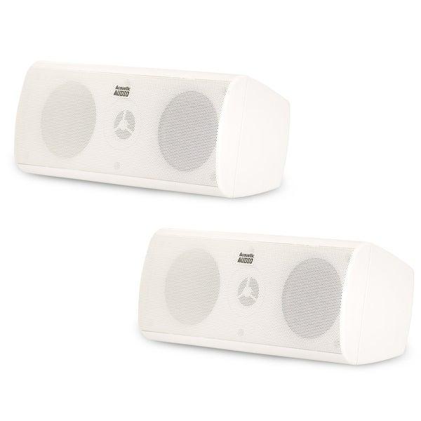Acoustic Audio AA35CW Indoor 3 Way Speaker Pair 800W White Bookshelf AA35CW-PR