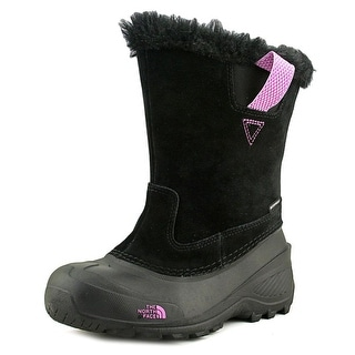The North Face Shellista Pull-On II Youth Round Toe Suede Black Snow Boot