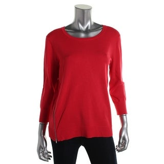 Cable & Gauge Womens Knit Long Sleeves Pullover Sweater - L